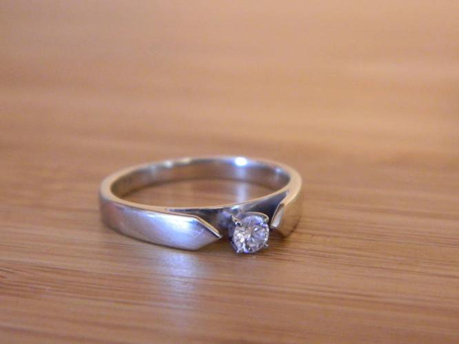 14 K Diamond Solitare