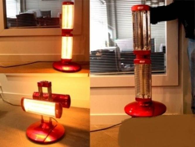 1.6 KW Portable Home Office Multi Heater Halogen.