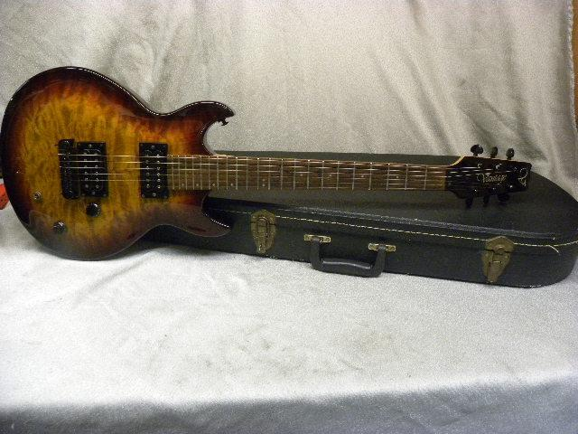 #160314-2 Vantage electric guitar with hard case