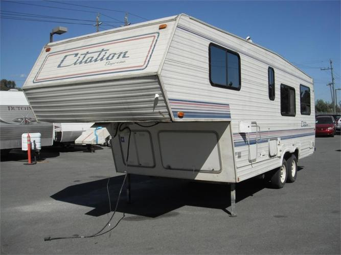 1991 General Coach Citation Supreme 26 Foot Fifth Wheel Travel Trailer