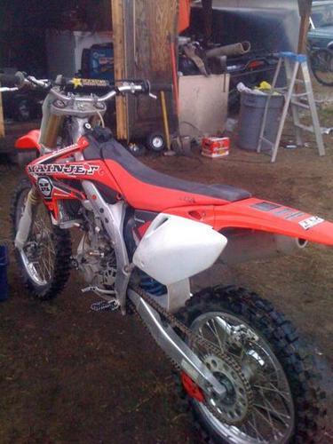 2008 CRF 450r perfect bike 4000 obo