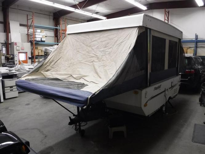 2009 Forest River Flagstaff 206LTD Electric Pop Up Hard Top Tent Travel Trailer