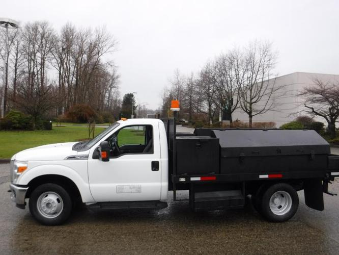 2011 Ford F-350 SD XLT Dually 2WD Service Truck 12 Foot Flat Deck