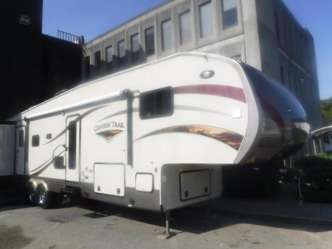 2014 Gulf Stream Canyon Trail 37RBDS 37 Foot Fifth Wheel Travel Trailer with 4 S
