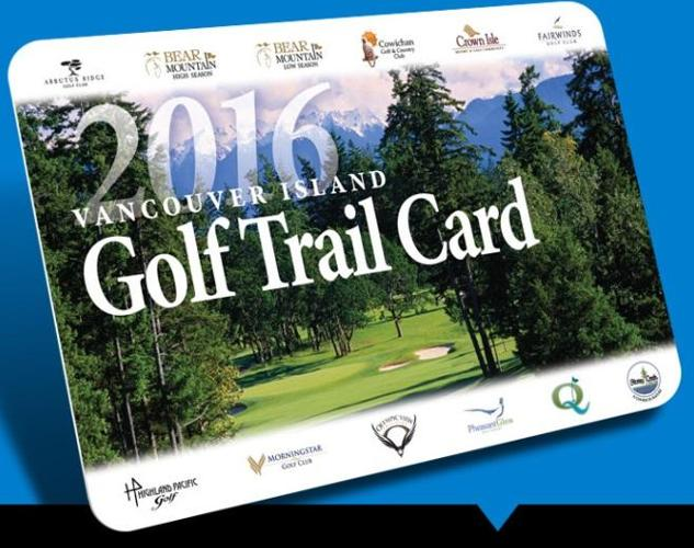 2016 BC Golf Trail Card (12 rounds of golf)