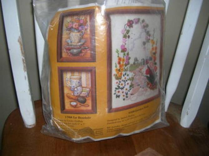 3 never done crewel needlework kits