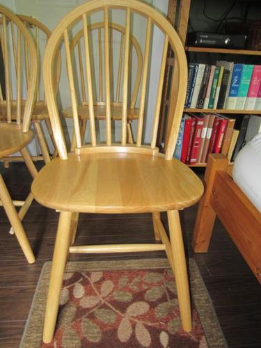 4 wood dining room chairs free