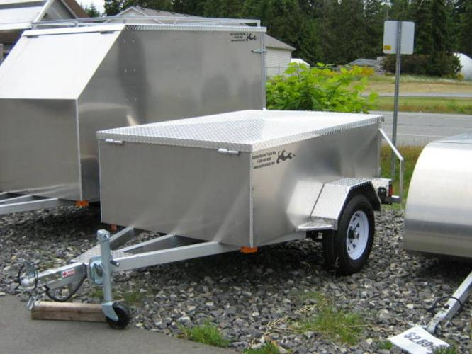 4x6 Aluminum Utility Trailer Removable Lid For Sale In