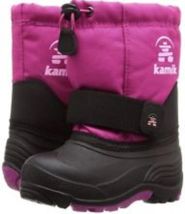 8T and 9T Kamik Girls Toddler Winter Boots