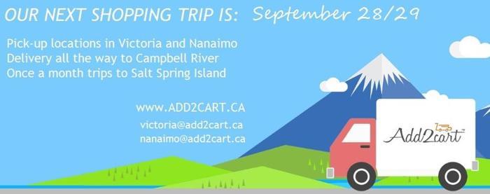Add2cart.ca Comox Valley| We deliver IKEA |  September 28/29