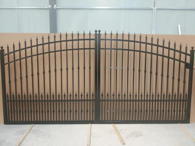 Aluminum Fence and Matching Gates   more styles in stock