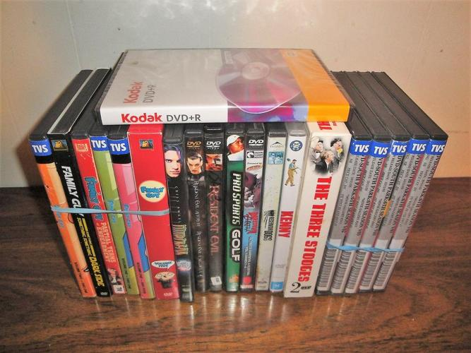 and up - DVDs: Family Guy, South Park, Resident Evil, 3 Stooges, etc.