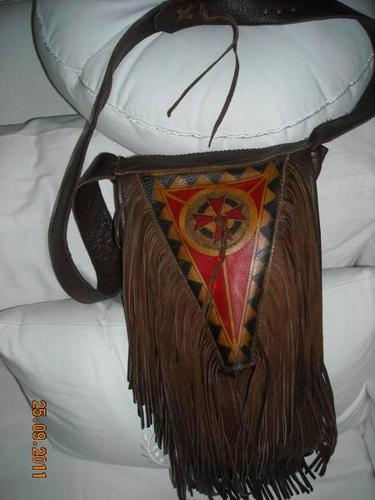 Artisan-crafted SHOULDER BAG brown leather NEW