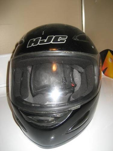 Black HJC helmet