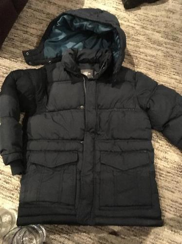 boys navy blue winter coat age 8-9
