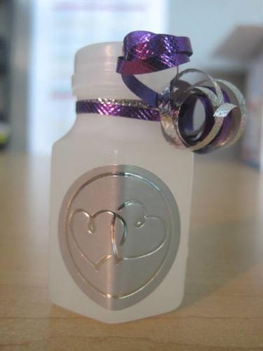 Bubbles Wedding Purple/Silver
