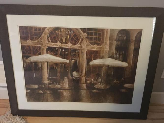 Cafe print in frame