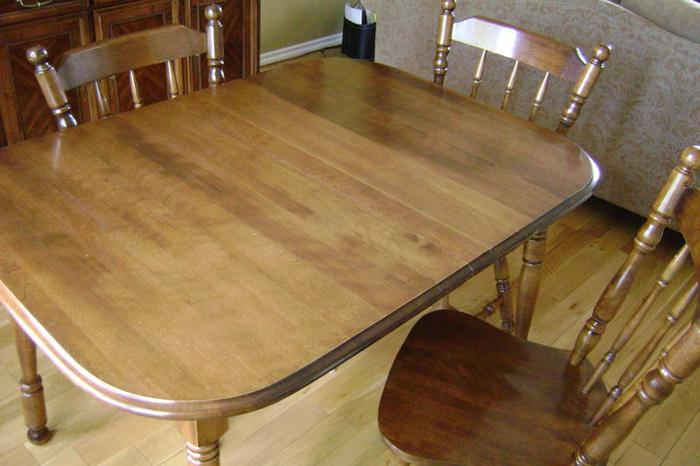 Canadian Made Solid Mohogany Dining Room Set Table And 6 Chairs