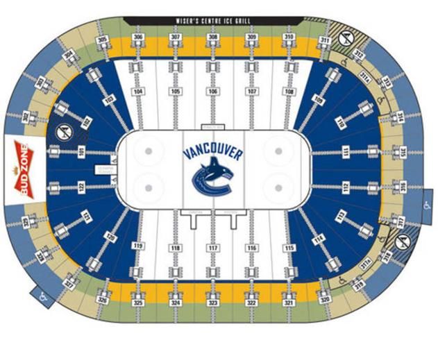 CANUCKS vs. PENGUINS OCT.06 $225/pair