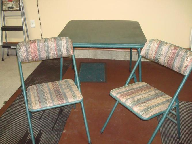 Card Table plus 4 chairs