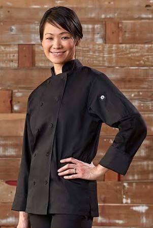 Chef coats and shirts:  Black or White