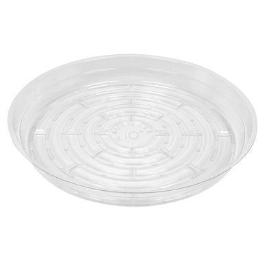 "Clear Poly Plastic Plant Pot Saucer - 10"""