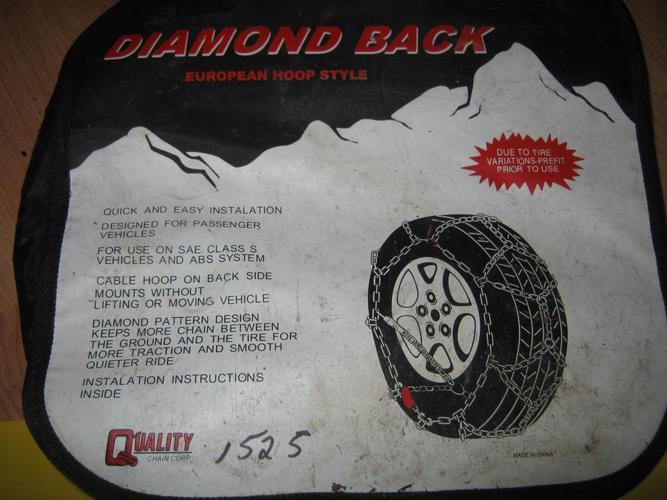 Diamond Back European Hoop style tire chains