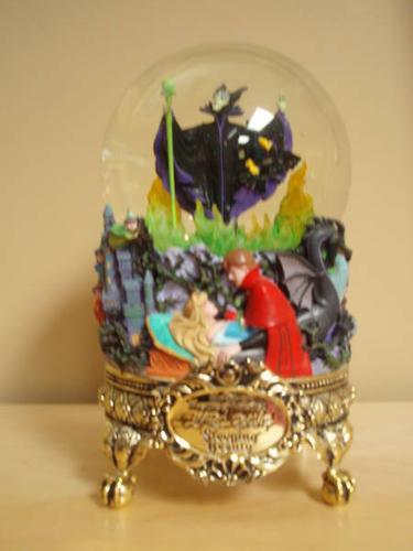 disney maleficent  sleeping beauty  music box  u0026quot snow globe