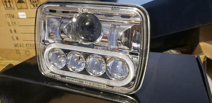 Dot/sae 5x7 led headlight conversion