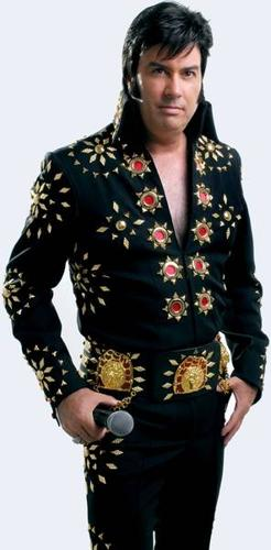Elvis Black Matador Jumpsuit with Cape and Belt