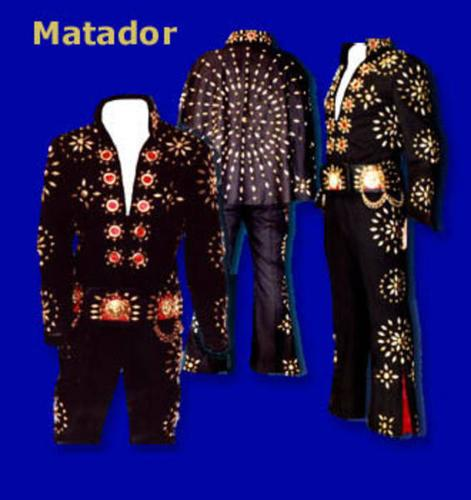 Elvis Black Matador Jumpsuit with Cape and Belt