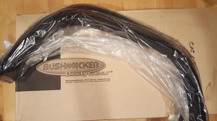 For sale, brand new in box, pair of Bushwacker front fender flares.