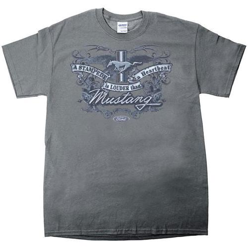 """Ford Mustang """"A Stampede is Louder Than a Heartbeat"""" t-shirt"""