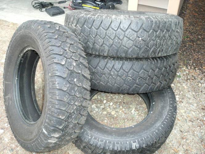 Four BFG Mud & Snow LT Tires 16