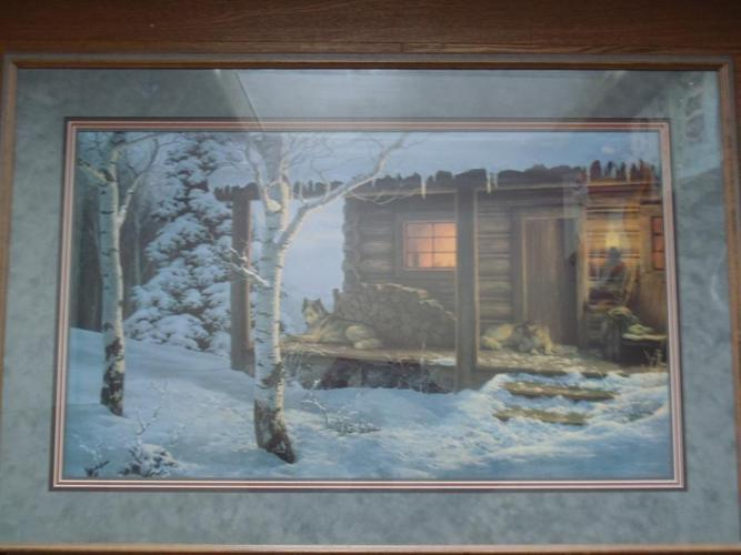 """Framed Wolf Creek Editions """"Mountain Retreat"""" Picture"""