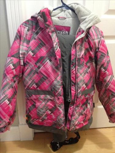 Girl's ski jacket and matching ski pants