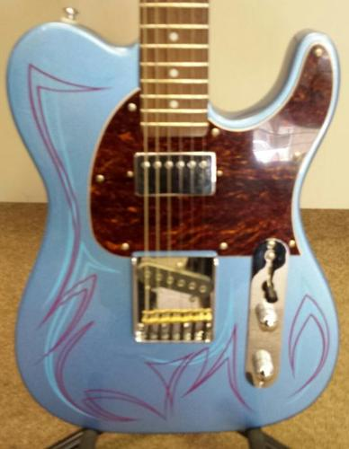 G&L Bluesboy with Custom Pinstriping