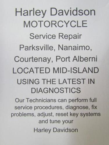 HARLEY Service, Repair, Parksville, Nanaimo, Courtenay, Port Alberni,