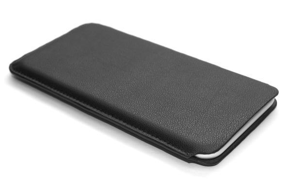 iPhone 7 leather case pouch - black