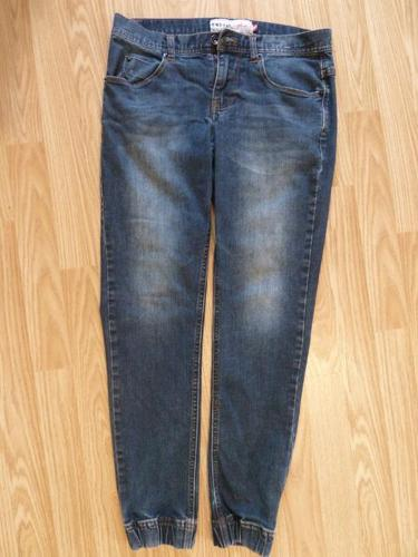 jeans with elastic cuff bottoms Mens size 30 fits Boys age 13-14