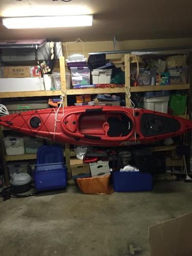 kayak set up for fishing