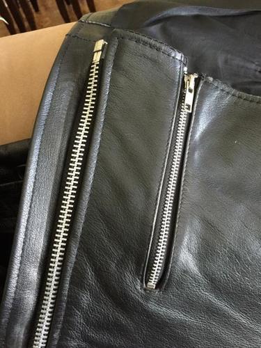 Ladies Black Genuine Leather Chaps EUC