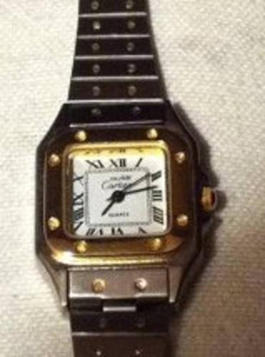 LADIES CARTIER 18K STAINLESS STEEL WATCH