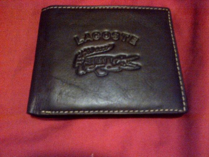 Leather Lacoste Wallet - MENS