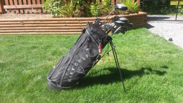 Left Handed Clubs and Nike Bag