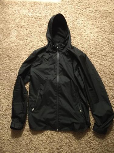 Light Black Rain Jacket - Mens Small
