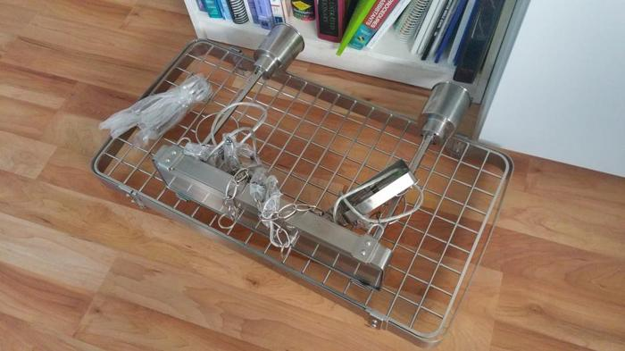 Light Fixture for Pots and Pans might be IKEA