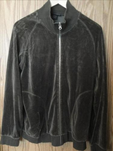 *LIKE NEW* Olive Green Velour Zippered Warm-up Jacket, by Express (Size M)