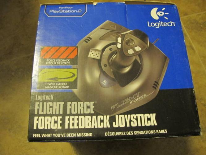 Logitech Flight Force Force Feedback Joystick Work with PC & PS2