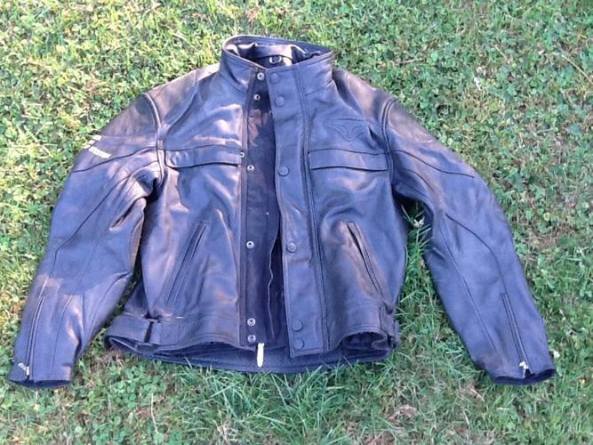 Motorcycle jacket, size 42-52 Teknic w/ snap in vest